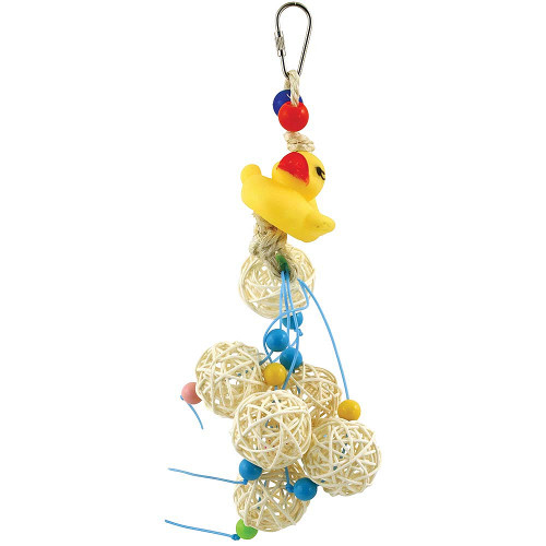 Dolly Duck's Vine Ball Surprise Parrot Toy