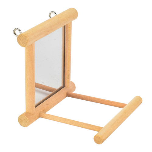 Mirror 'n' Perch Parakeet & Budgie Parrot Toy