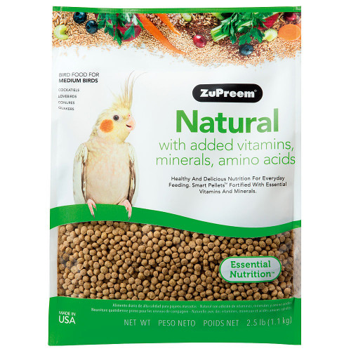 ZuPreem Natural - Complete Food for Cockatiels