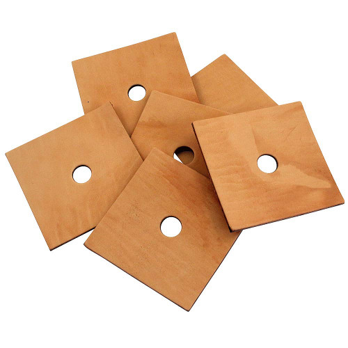 Pack of 6 Jumbo Leather Squares - Parrot Toy Making Parts