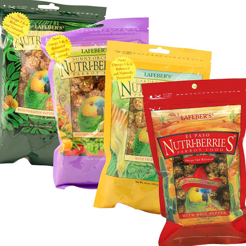 Lafeber NutriBerries Complete Parrot Food - Pack of 4
