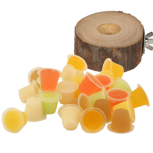 Pack of 30 Parrot Jelly Fruit Cups & Holder