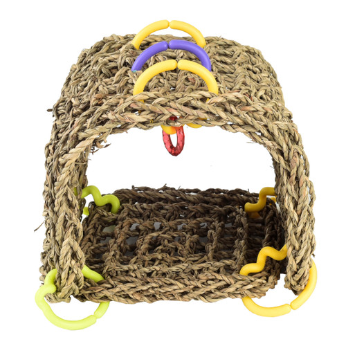 Seagrass Tent Natural Parakeet & Parrot Toy