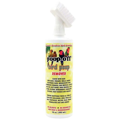 Poop-Off Bird Clean-Up Liquid With Brush Top - 16oz