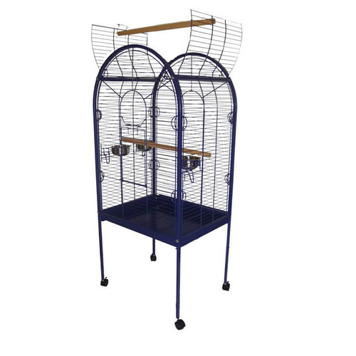 Lazy Bones Open Top Parrot Cage - Blue