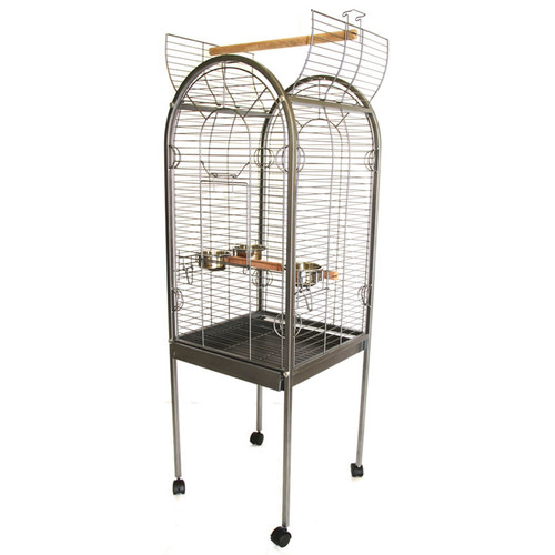 Lazy Bones Open Top Parrot Cage - Antique