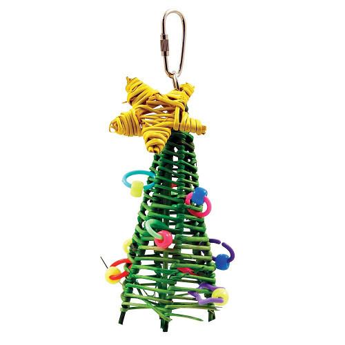 Mini Vine Christmas Tree Parrot Toy