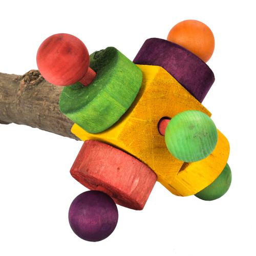Wooden Twirler Perch Spinning Parrot Toy