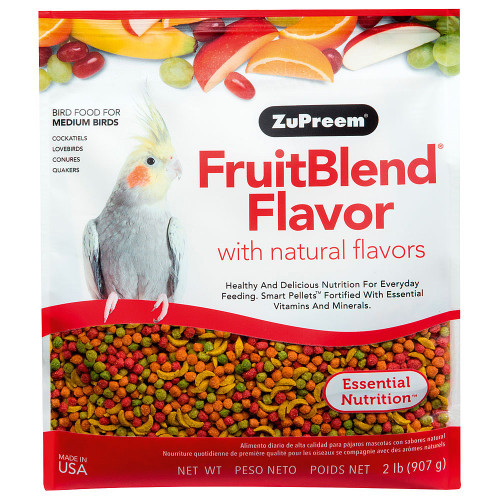 ZuPreem FruitBlend Medium - Complete Cockatiels Food