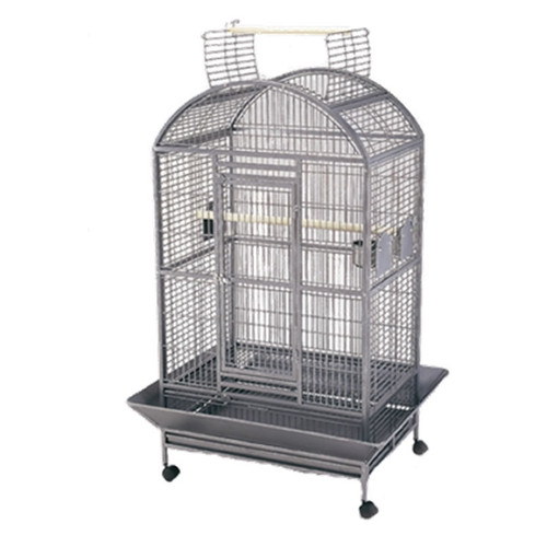 Lazy Bones - Dome Open Top Parrot Cage Antique