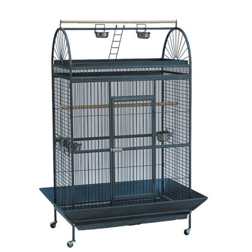 Lazy Bones Play Top Large Parrot Cage Antique