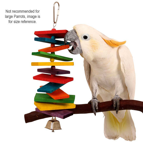 Coloured Stacker Wooden Parrot Toy - Large
