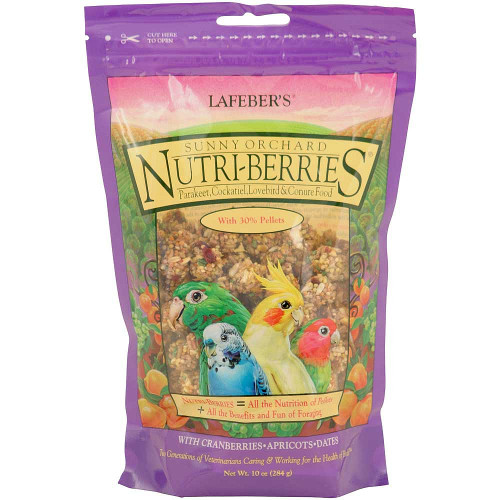 Lafeber NutriBerries Sunny Orchard Sm Parrot, Cockatiel 284g
