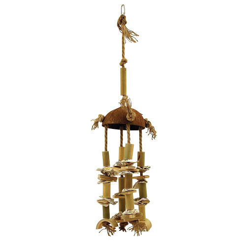Natural Cluster Tower Parrot Toy - Large