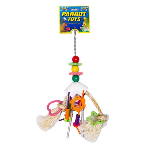 Hanging Chewable Parrot & Bird Toy