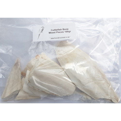 Cuttlefish Bone for Parrots & Cage Birds - 100g Pack