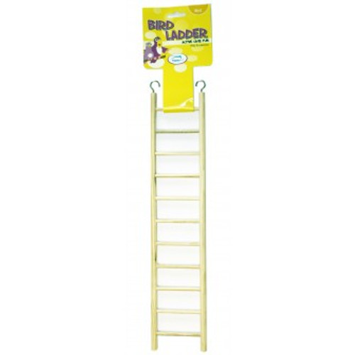 Wooden Bird Ladder for Budgies, Cockatiels & Parakeets - 11 Steps