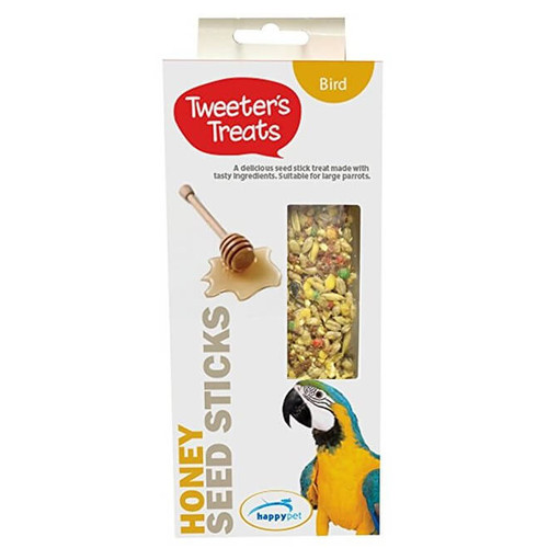 Tweeter's Seed Sticks Parrots Treat - Honey