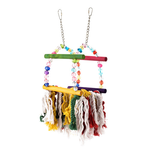 Cosy Rainbow Preening Swing for Budgies, Cockatiels & Small Parakeets
