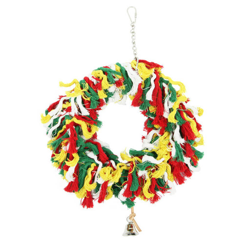 Rainbow Bell Ringing Parrot Swing Toy