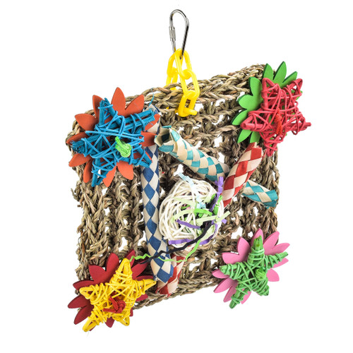 Foraging Pouch Natural Parrot Toy