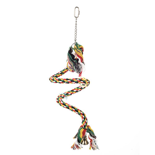 Boing - Boing - Cotton Spiral Parrot Toy & Perch - Small