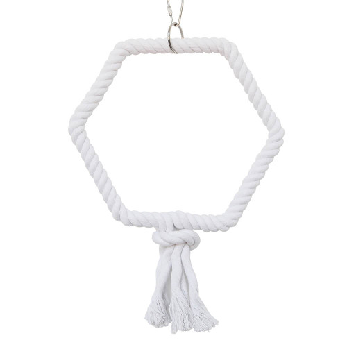Hexagonal Rope Parrot Swing - Medium