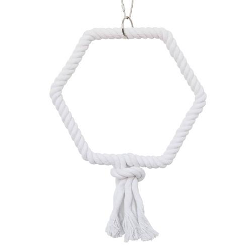 Hexagonal Rope Parrot Swing - Medium
