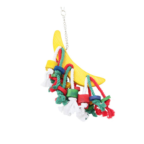 Banana Play Wood & Rope Parrot Toy