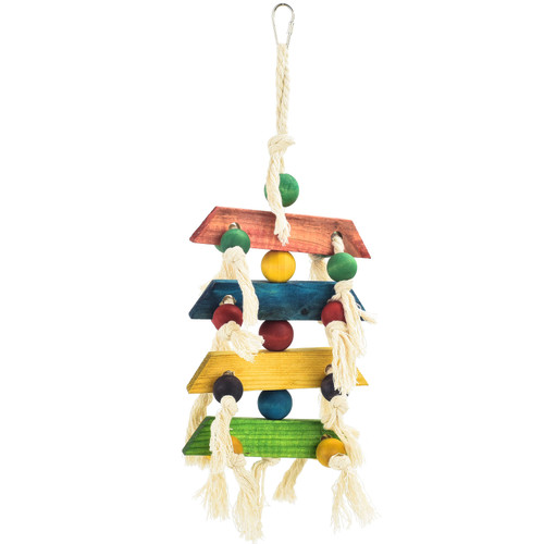 Block & Knots - Wood & Rope Natural Parrot Toy