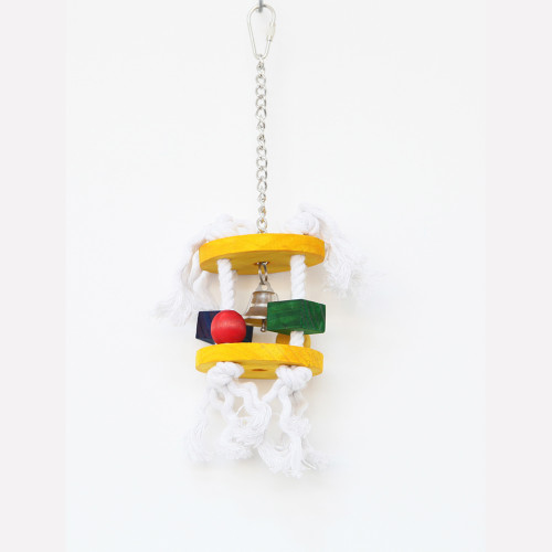 Jingling House Wood & Rope Parrot Toy