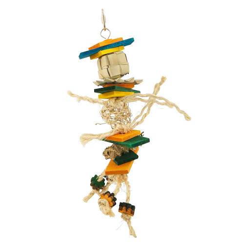Mambo Stack Shredding Parrot Toy