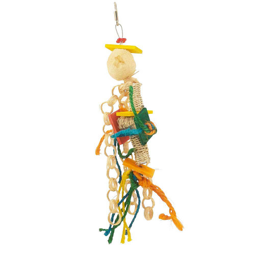 Funky Lou Natural Parrot Toy