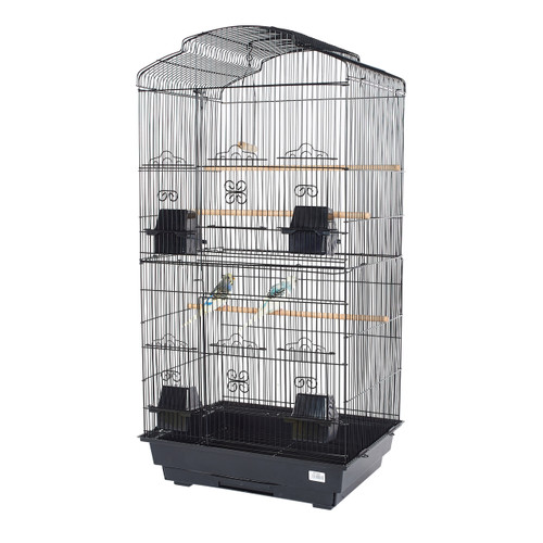 Pet Ting Bluebell Small Parrot Cage - Black