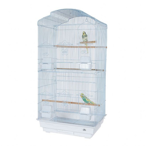 Pet Ting Bluebell Small Parrot Cage - White