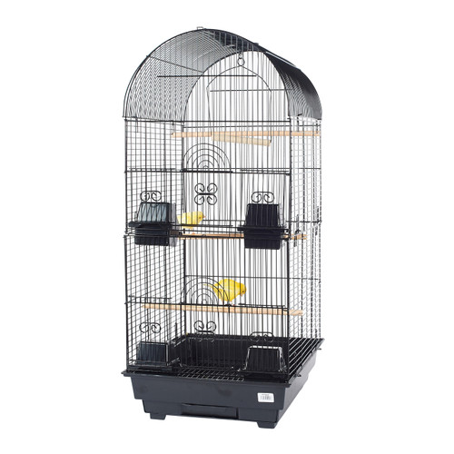 Pet Ting Delphinium Small Parrot Cage - Black