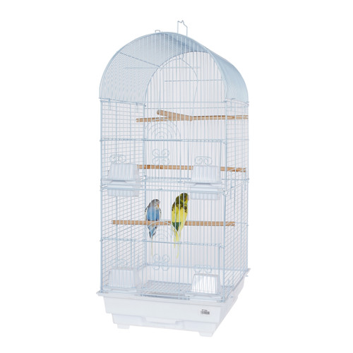Pet Ting Delphinium Small Parrot Cage - White