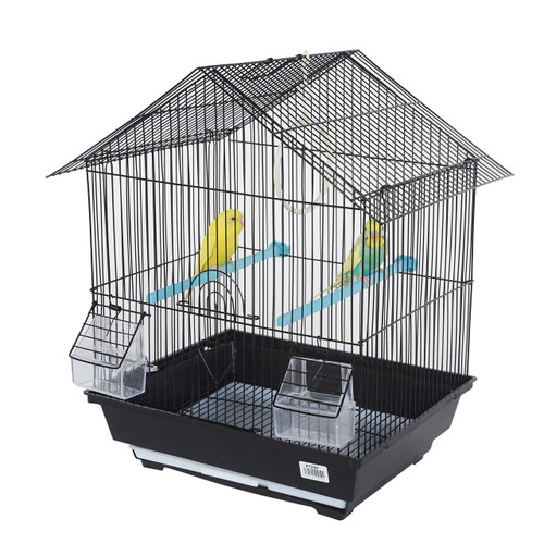 Pet Ting Foxglove Small Parrot Cage - Black