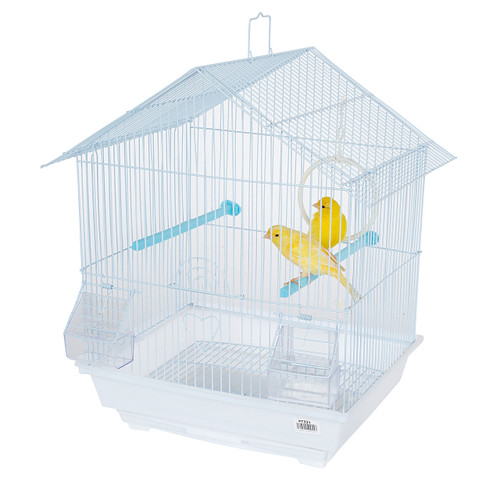 Pet Ting Foxglove Small Parrot Cage - White