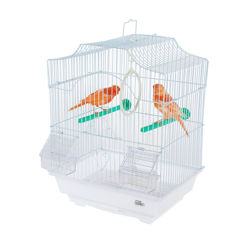 Pet Ting Freesia Small Parrot Cage - White