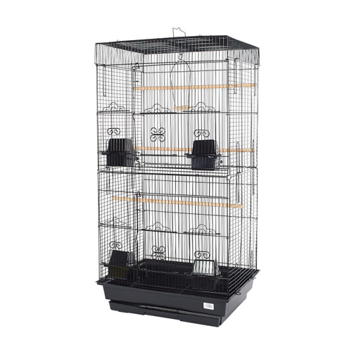 Pet Ting Rose Small Parrot Cage - Black