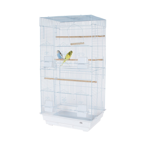 Pet Ting Rose Small Parrot Cage - White