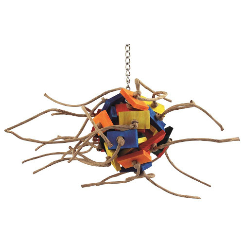 Supernova Wood & Rope Parrot Toy - Small