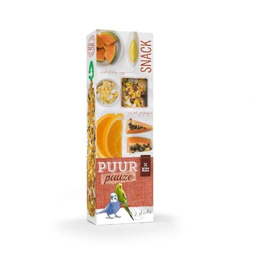 PUUR Budgie Treat Sticks Twinpack - Exotic Fruit & Egg