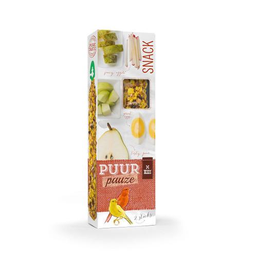 PUUR Canary Treat Sticks Twinpack - Fruit & Egg