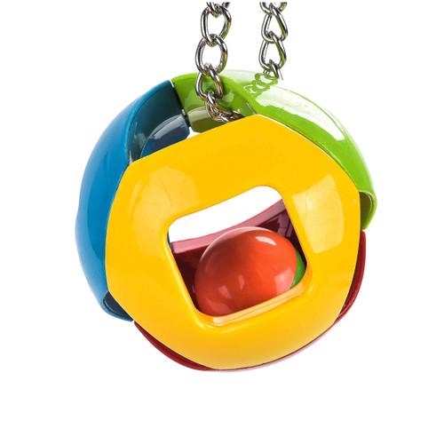 Jingle Ball Hanging Parrot Toy - Medium