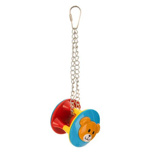 Jingle Drum Hanging Parrot Toy - Medium