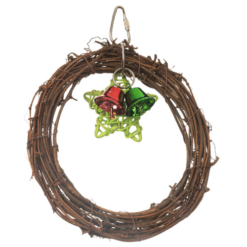 Willow Twist Activity Swinging Parrot Toy with Bells