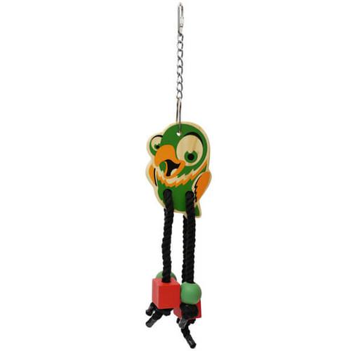 Parrot Wooden Chew & Shred Dangler Toy