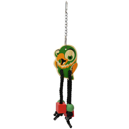 Wooden Chew & Shred Dangler Parrot Toy